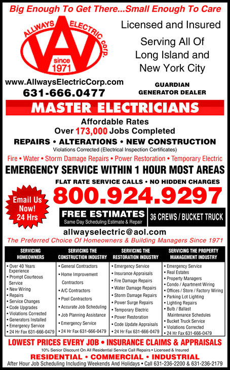 Licensed and Insured Serving All Of Long Island and New York City